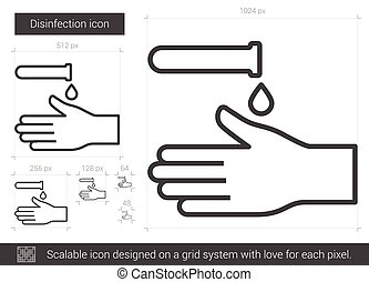Disinfection line icon. - Disinfection vector line icon...