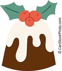 Christmas cookie cake isolated vector icon - Sweet Christmas...