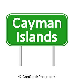 Cayman Islands.eps - Cayman Islands road sign isolated on...