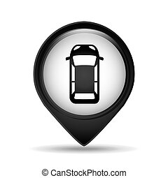 sign car parking vehicle icon vector illustration eps 10