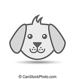 face dog puppy icon vector illustration eps 10