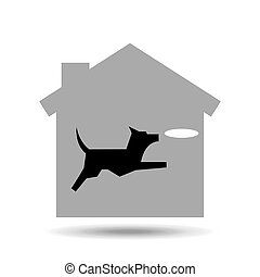 dog playing palte icon vector illustration eps 10