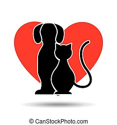 symbol pet shop dog and cat icon vector illustration eps 10