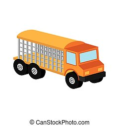 animal transport truck icon graphic vector illustration eps...