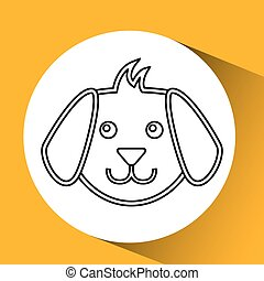 face dog puppy icon
