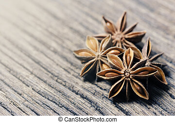 Star anise - closeup details of star anise