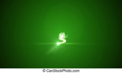 Christmas tree of glowing particles. top inscription 2017 -...