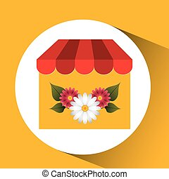 flower gardenia store spring decoration icon vector...