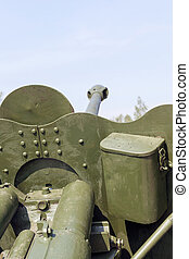 Old military equipment - photographed close-up of the old...