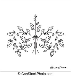 Tree brunch outline - Design element - graphic drawing of a...
