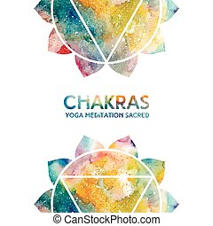 Watercolor chakras background - Vector background....