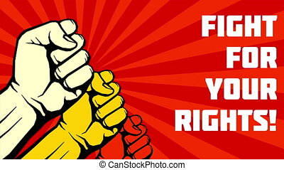 Fight for your rights animation. Uprising fists video -...