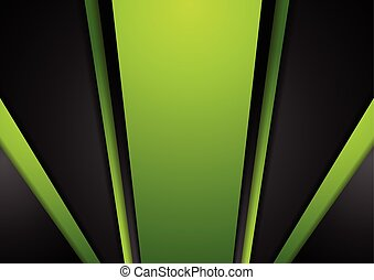 Vibrant green black abstract background