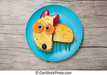 queso, hecho, placa, tabla, toro,  terrier,  bread