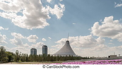 Astana, Kazakhstan - September 5, 2016: The shopping center...
