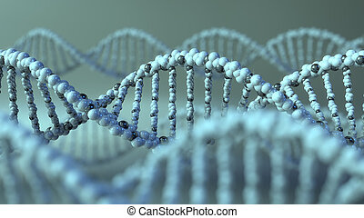 DNA molecules. Gene, genetic research or modern medicine...