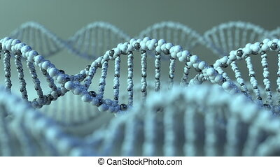 Spinning DNA molecules. Gene, genetic research or modern...
