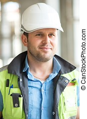 Civil Engineer At Construction Site - Portrait Of A Civil...