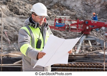 Civil Engineer At Construction Site - Civil Engineer at...