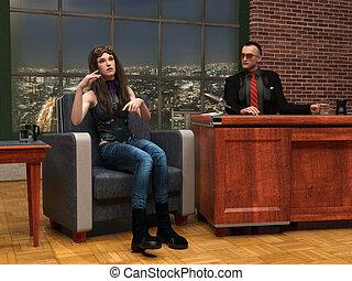 Talk Show 3d scene