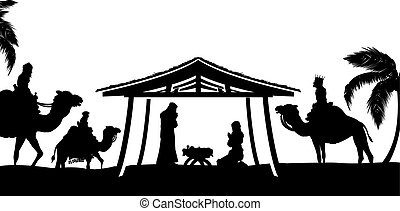 Christmas Nativity Scene - Christian Christmas Nativity...