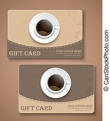 Set coffee gift cards.