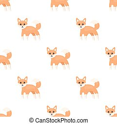 Fox icon in cartoon style isolated on white background....