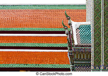 bangkok   the temple    sky and  colors religion mosaic