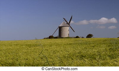 Windmill in the countryside - Windmill of Moidrey near the...
