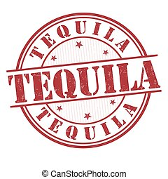 Tequila sign or stamp - Tequila grunge rubber stamp on white...