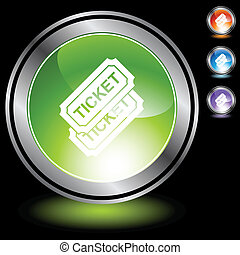 Event Ticket web button isolated on a background