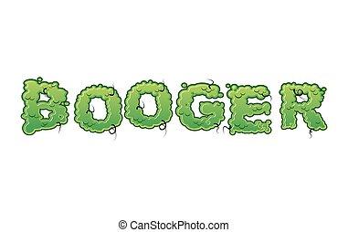 Snot-21.eps - Booger Green slime letters. Snot slippery...
