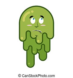 Big green wad of mucus snivel - Surprised booger....