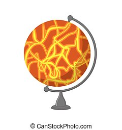 Snot-75.eps - Mars School Globe. Planet geographical sphere....