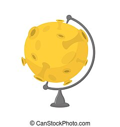 Snots-35.eps - Moon school globe . Planet geographical...