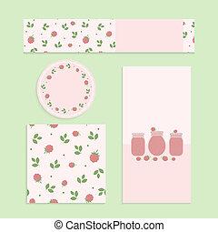 Homemade raspberry jam set. Flyer, banner, brochure, label,...