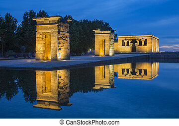 Debod Temple in Madrid - Debod, ancient Egyptian temple in...