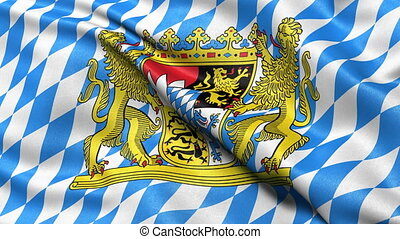 Bavaria state flag seamless loop - Seamless loop of Bavaria...