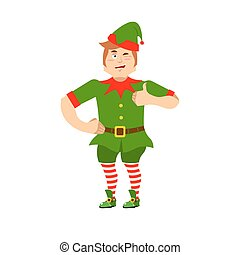 Good Christmas elf winks and thumbs up. Sign all is well....