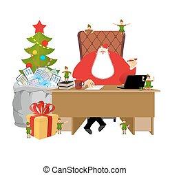 Laponie, lettres, Childrens, bureau, patron, sac, fabuleux,...