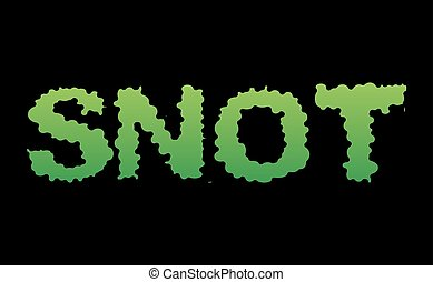 Snot. Green slime letters. Booger slippery lettering. Snvel...