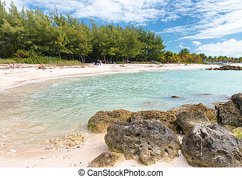 Beach at Fort Zachary Taylor Historic State Park in Key...