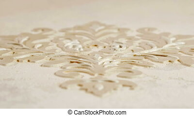 Texture of working Stucco pattern white color wall....