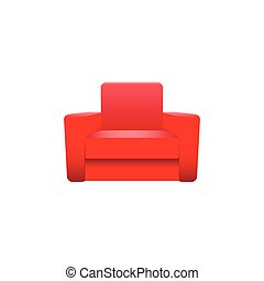 Vector armchair isolated on white background