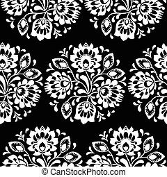 Seamless traditional floral Polish folk art pattern -...