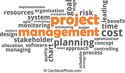 word cloud - project management - A word cloud of project...