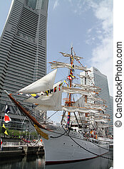 Nippon maru, sailing ship in yokohama, Japan