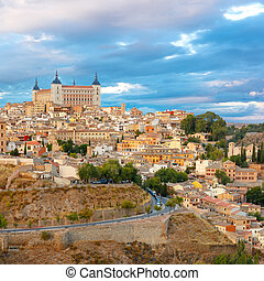 Alcazar in Toledo, Castilla La Mancha, Spain - Old city of...