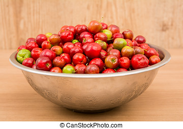 tropical fruits red - Acerolas, tropical fruits red