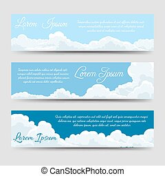 White clouds banners template collection - White clouds and...